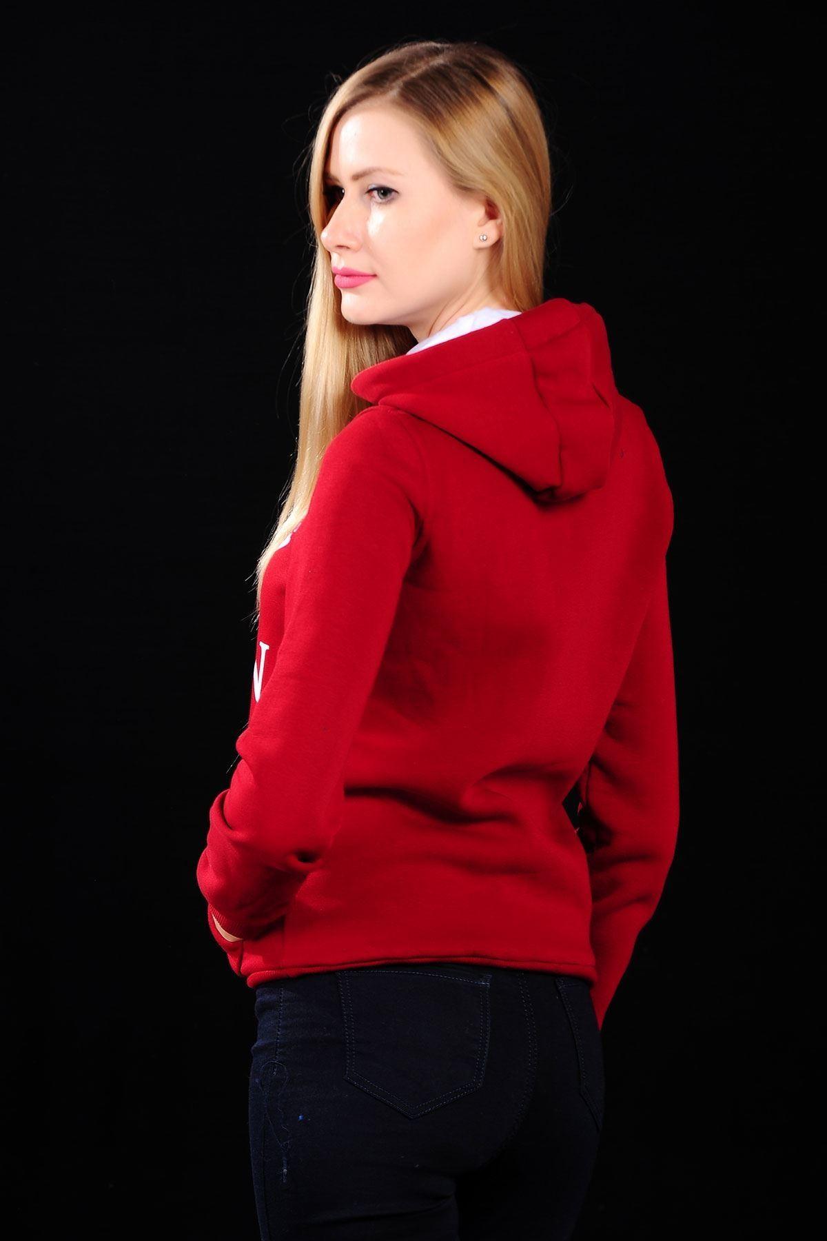 Quenn Kırmızı Bayan Sweat