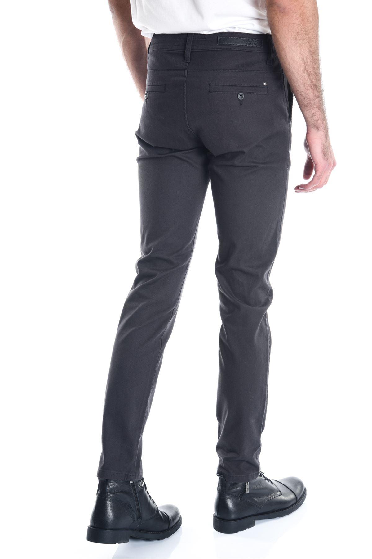 Füme Desenli Erkek Chino Pantolon