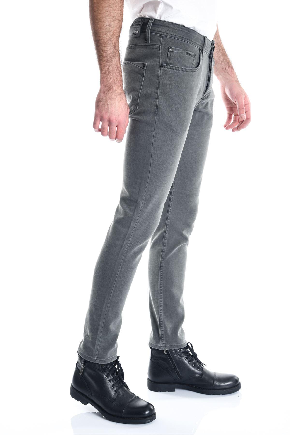 Haki Sade Örme Slimfit Erkek Kot Pantolon