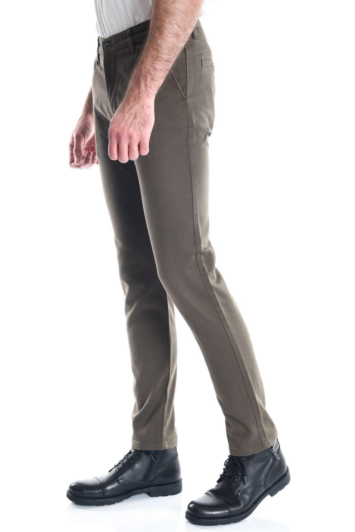 Haki Erkek Slimfit Chino Pantolon