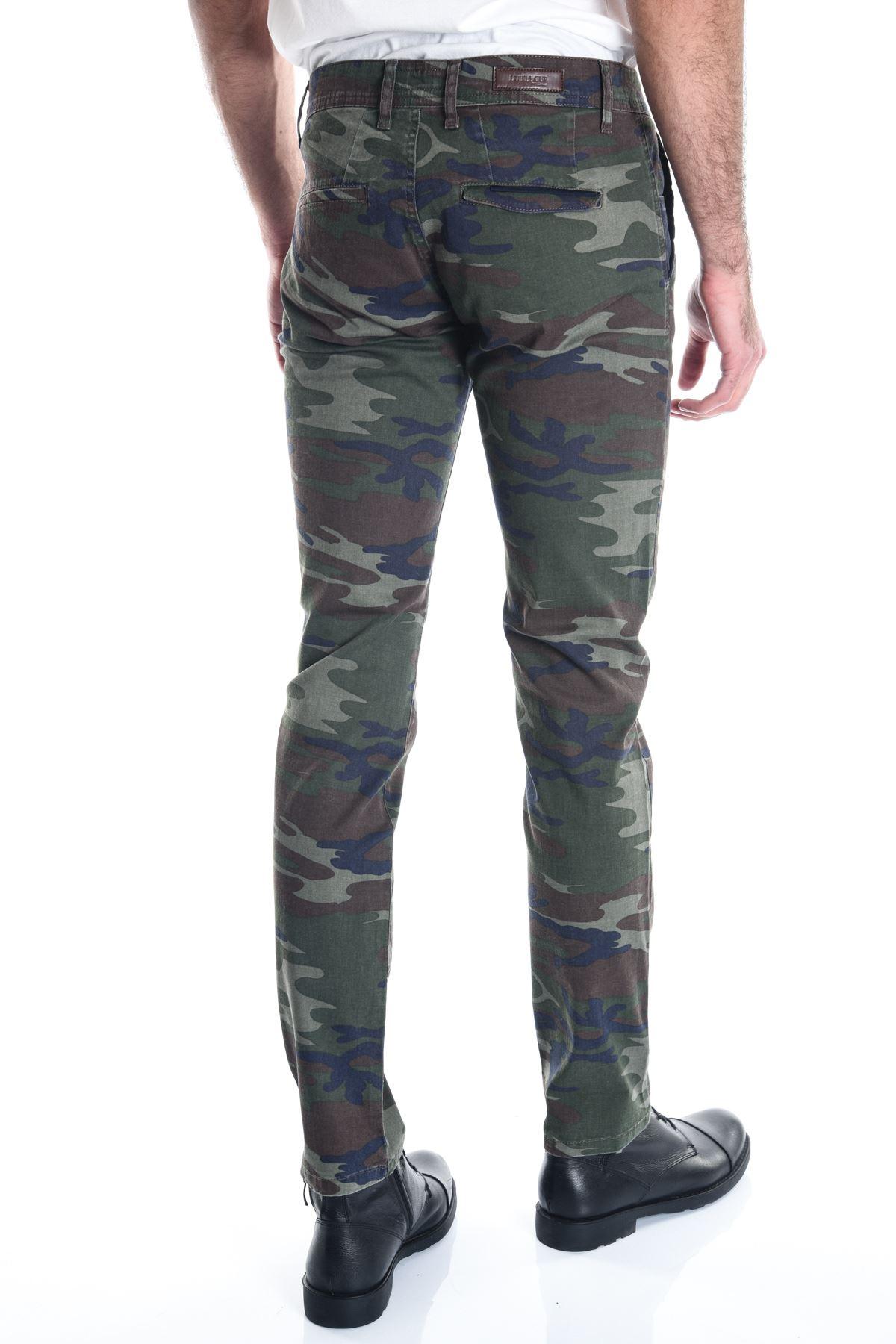 Kamuflaj Erkek Slimfit Haki Chino Pantolon