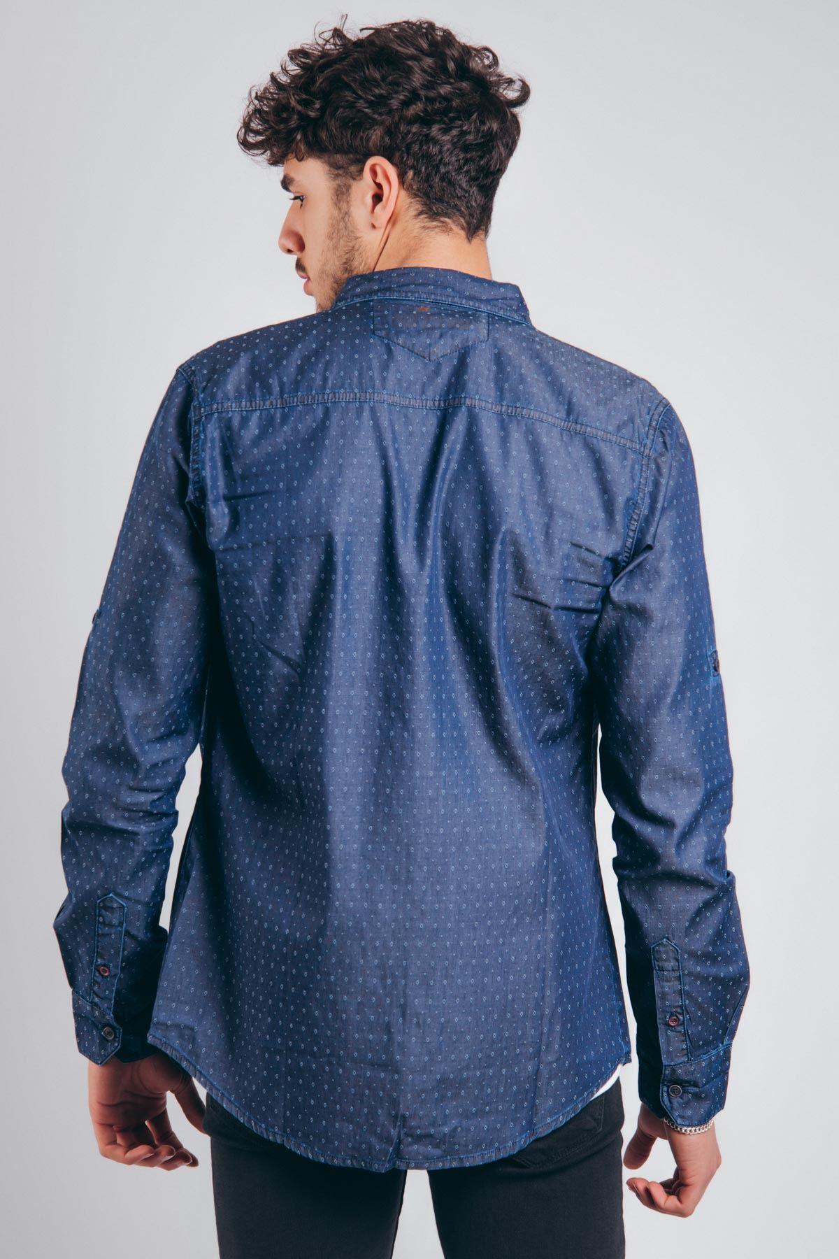 Pitikare Mavi Erkek Kot Gömlek