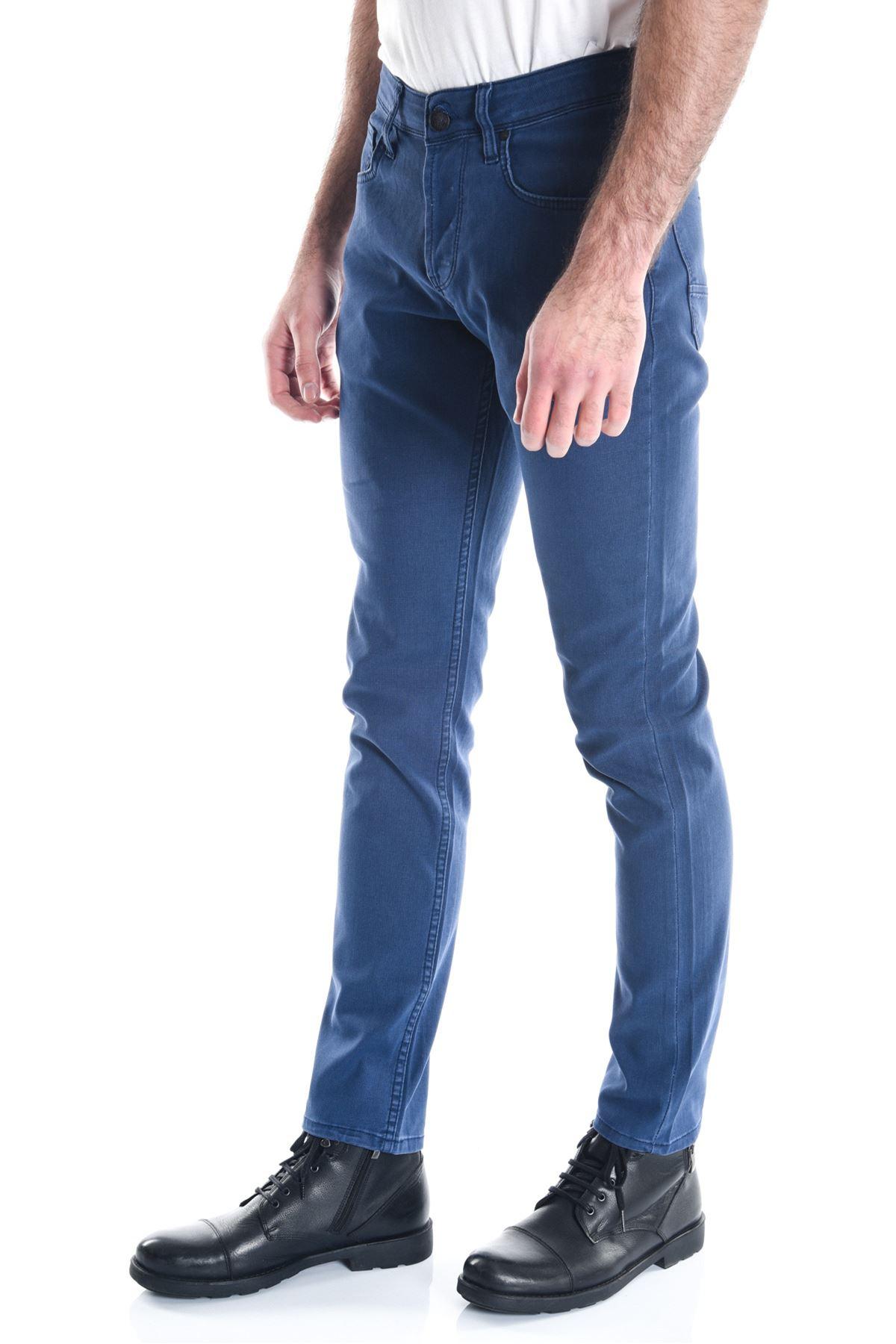 Mavi Açık Pitikare Slimfit Erkek Kot Pantolon