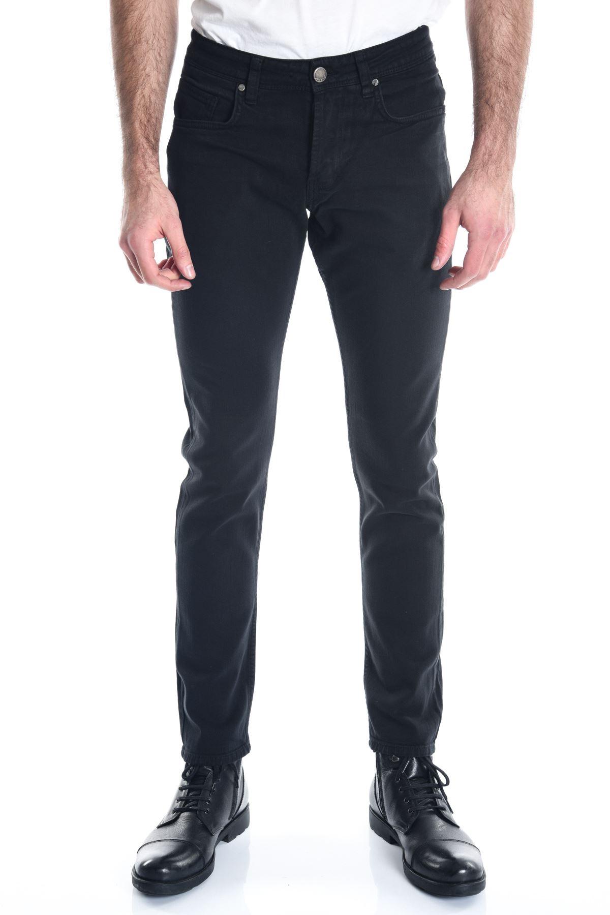 Siyah Sade Erkek Kot Pantolon