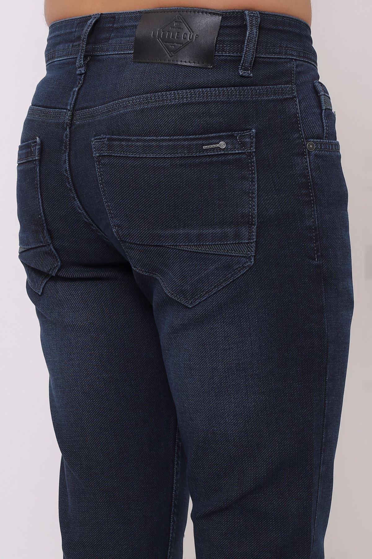 Yeni Armürlü Slim Fit Fermuarlı Yeşil Tint Erkek Pantolon