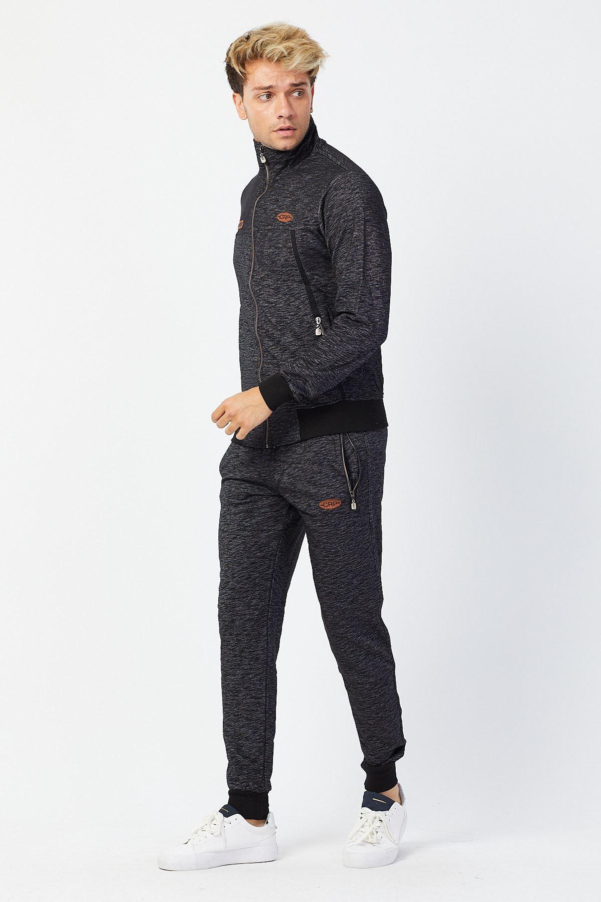 Lacivert Erkek Beli  Paçası Lastikli Detay Model Eşofman Takımı