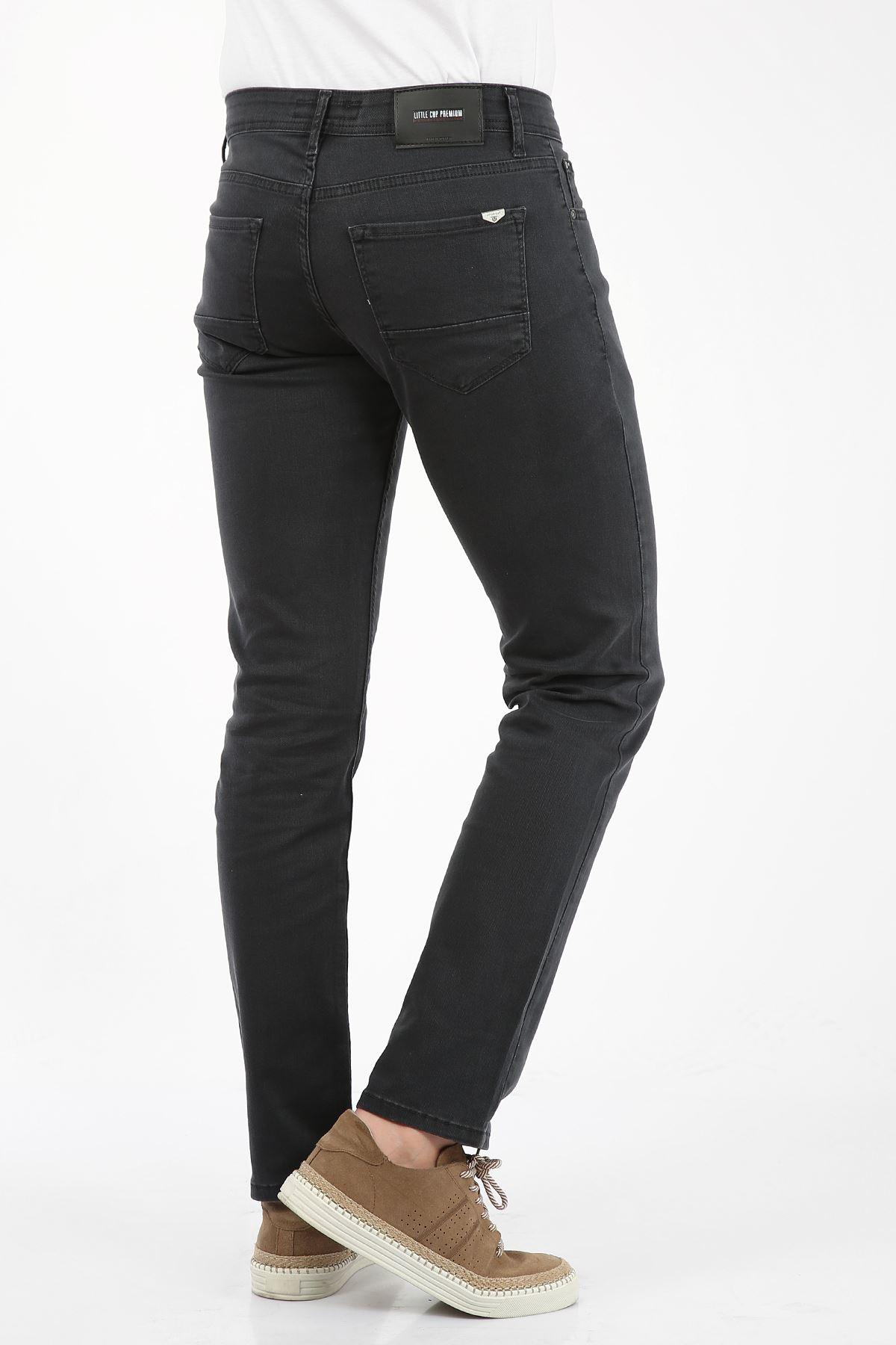 Antrasit Regular Fit Fermuarlı Erkek Jeans Pantolon-FARADAY