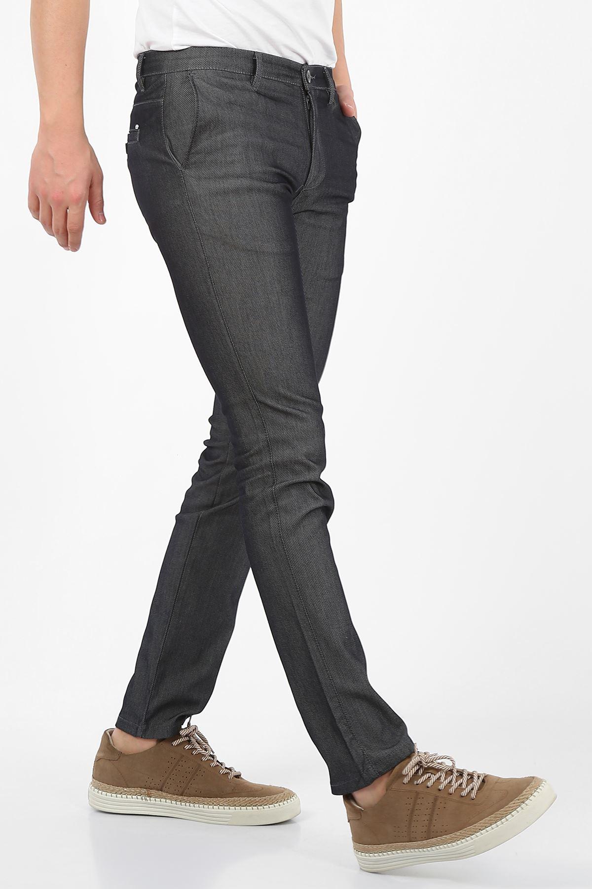 Koyu lacivert Slim Fit Erkek Chino Pantolon -OLİVER
