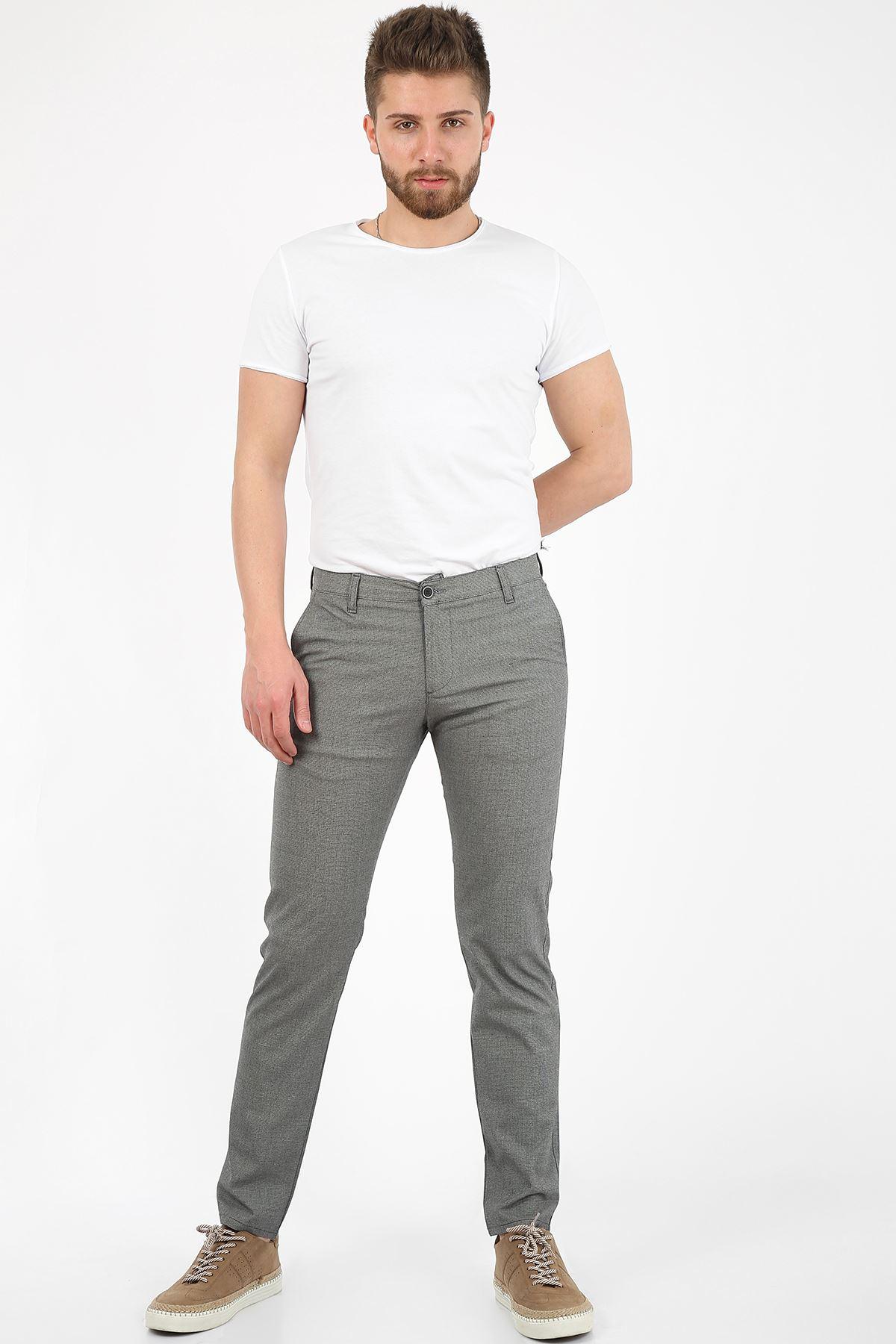 Siyah Slim Fit Erkek Chino Pantolon -OLİVER