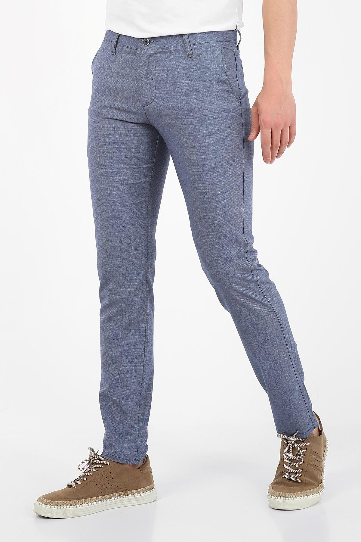 Mavi Slim Fit Erkek Chino Pantolon -OLİVER