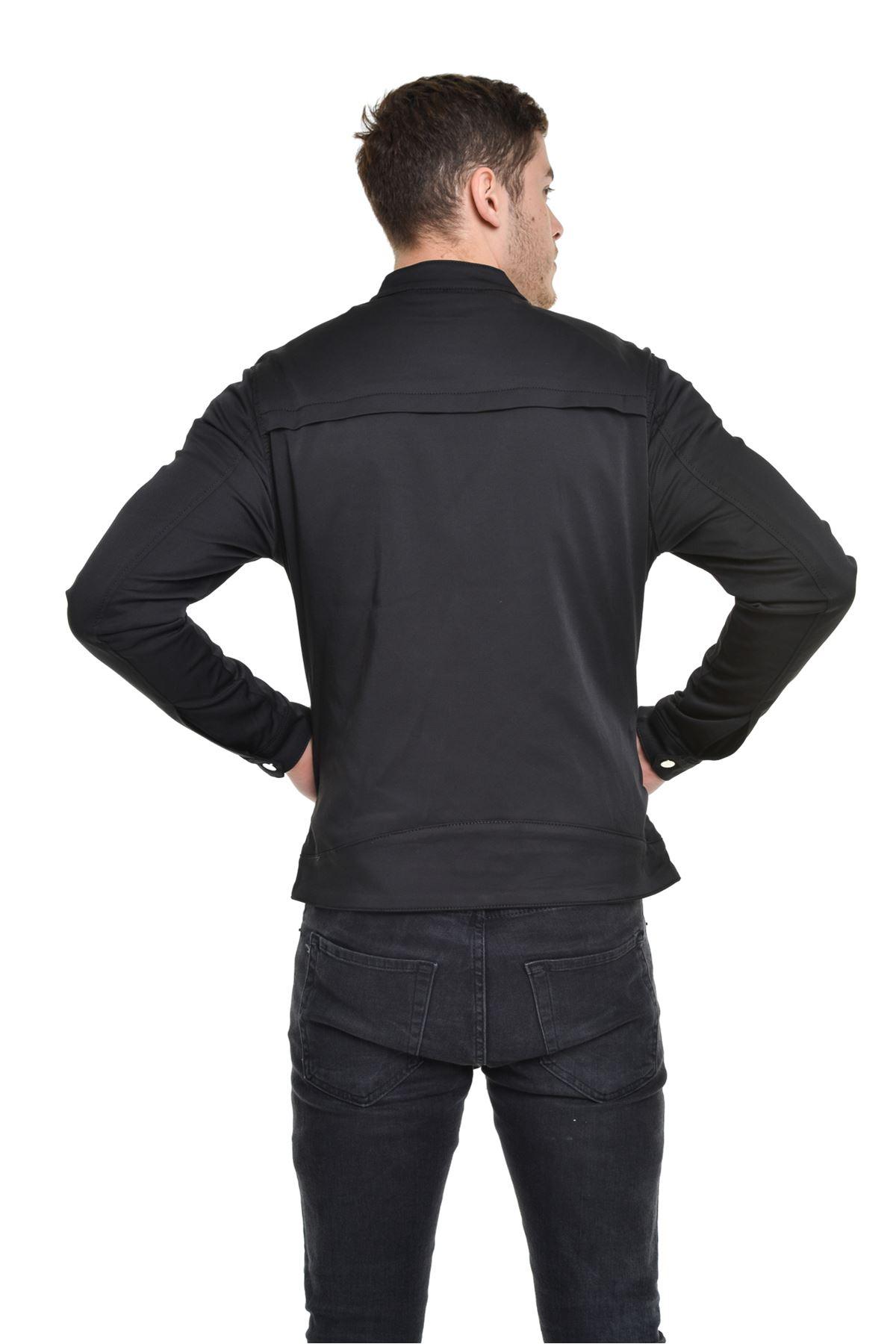 Mevsimlik İç asarlı Premium Erkek Siyah Ceket Mont