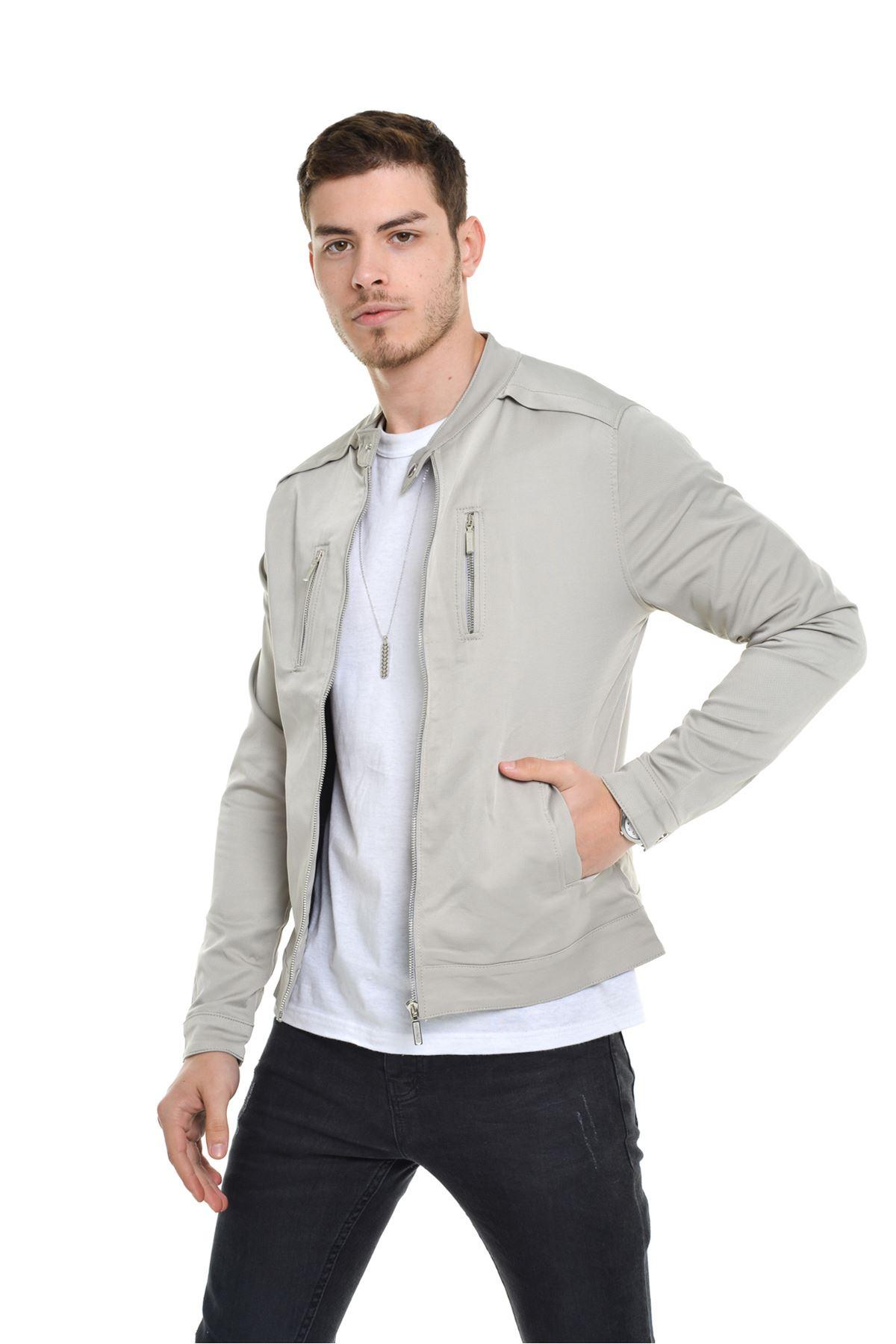 Mevsimlik İç astarlı Premium Erkek  Taş Ceket Mont